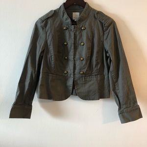 Military style button jacket